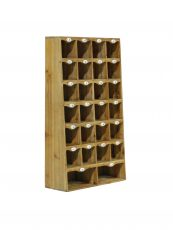 Block & Chisel cubed fir wood cabinet