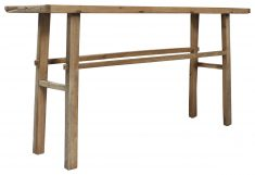Block & Chisel reclaimed elm wall table