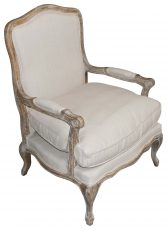 Block & Chisel linen upholstered club chair