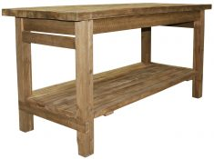 Block & Chisel wooden counter table with a lower shelf