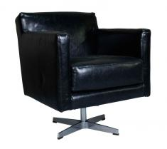 Block & Chisel black faux leather chair