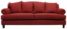 Block & Chisel red 3 seater sofa