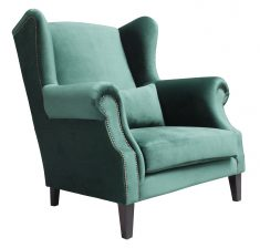 Block & Chisel emerald velvet loveseat