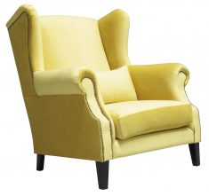Block & Chisel solar yellow velvet loveseat
