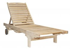 Block & Chisel natural teak lounger