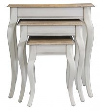 Block & Chisel cream side table set