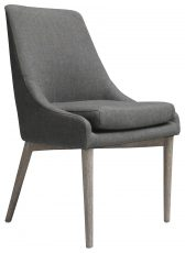Block & Chisel grey upholstered dining chair