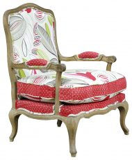 Block & Chisel multi-coloured french inspired armchair