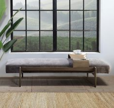 ARABEL DAYBED | Brown Velvet with slidable table