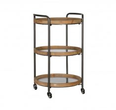 Block & Chisel Industrial Style drink trolley side table on castors