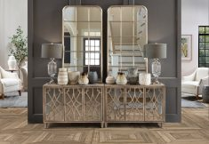 Block & Chisel wooden sideboard with mirrored doors