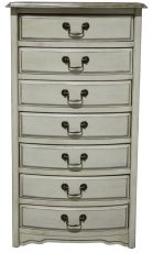 Block & Chisel cream 7 drawer french chest