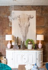 Block & Chisel white distressed wooden sideboard