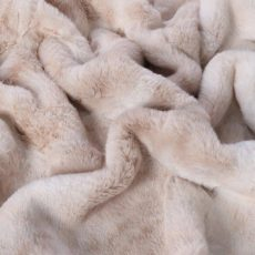 faux fur throw in froth