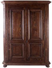 Block & Chisel solid colonial brown oak armoire