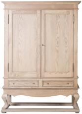 Block & Chisel solid weathered oak drinks cabinet