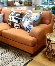 Block & Chisel remo patina upholstered sofa
