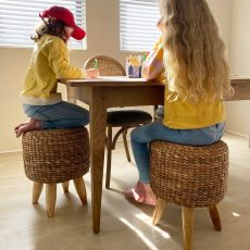 Block & Chisel weathered oak dining tables