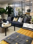 large 4 seater modern sofa in charcoal