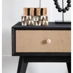 Block & Chisel black retro inspired bedside table