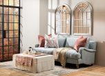 3 seater mission sofa in light grey