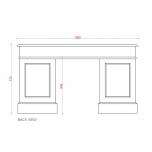 Block & Chisel weathered oak pedestal desk with antique white base
