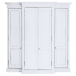 Block & Chisel weathered oak breakfront wardrobe in Antique White with clay