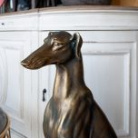 Bronze resin large floor greyhound dog statue
