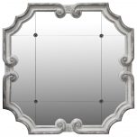 Block & Chisel square metal framed mirror
