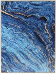 Block & Chisel blue marble print with gold frame