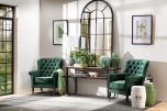 Block & Chisel metal console table with metal frame