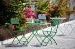 Block & Chisel green metal outdoor cafe set