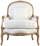 Block & Chisel cream upholstered lounge chair