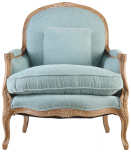 Block & Chisel blue upholstered lounge chair
