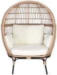 Block & Chisel round rattan nest  chair with cushions