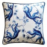 Block & Chisel blue monkey cushion