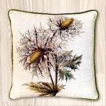 Block & Chisel botanical linen cushion