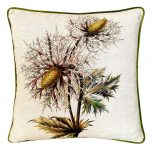 Block & Chisel botanical linen cushion