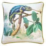 Chameleon animal print cushion front
