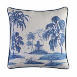 Hillhouse scatter cushion Japanese homestead on linen