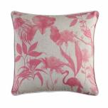Hillhouse scatter cushion pink flower on linen