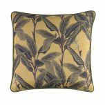 Hillhouse scatter cushion foliage on yellow