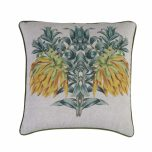 Hillhouse scatter cushion yellow flower on linen