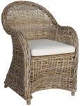 Block & Chisel black rattan lounge chair