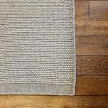 Block & Chisel grey wool rug with grey trim