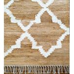Block & Chisel beige carpet with print
