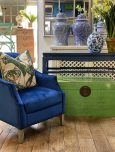 blue lacquered Chinese console