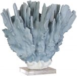 Block & Chisel polyresin coral stand with faux acrylic marble