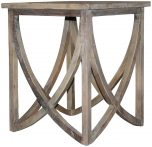 Block & Chisel square old elm wood side table