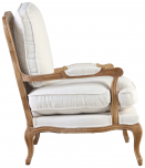 Block & Chisel cream upholstered french inspired armchair
